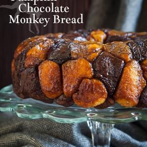 Pumpkin Monkey Bread with Chocolate Dough