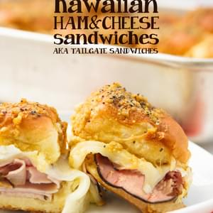Hawaiian Ham and Cheese Sandwiches (aka Tailgate Sandwiches)