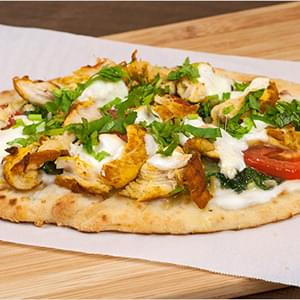 Indian-Spiced Chicken Flatbread