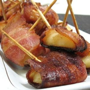 Bacon Wrapped Water Chestnut (Rumaki) (for Atkins Diet Phase 1)