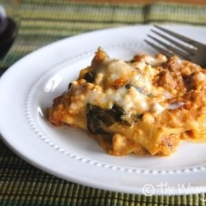 Slow Cooker Turkey and Spinach Lasagna