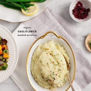 Vegan Cauliflower Mashed Potatoes