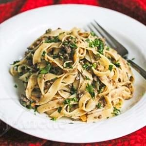 Healthy Mushroom Ground Beef Stroganoff