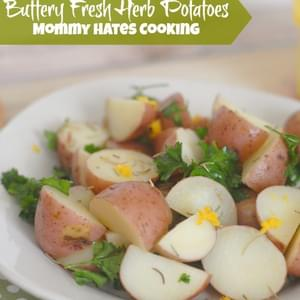 Buttery Fresh Herb Potatoes