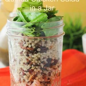Quinoa Chicken Salad in a Jar