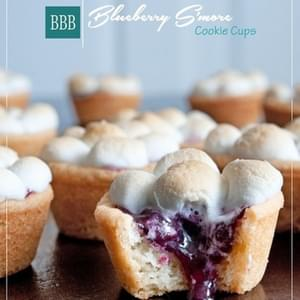 Blueberry S'more Cookie Cups