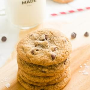 Salted Chocolate Chip Espresso Cookies