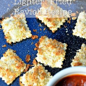 Lighter Fried Ravioli