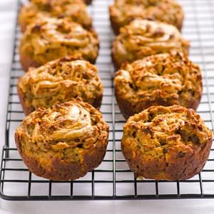 Banana and Peanut Butter Swirl Protein Muffins