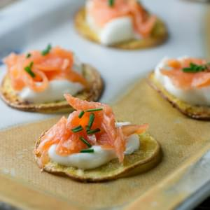 Smoked Salmon Potato Bites