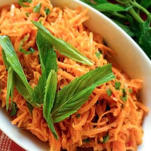 Pickled Carrot Salad With Coriander & Mint