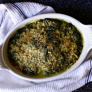 The Best Baked Spinach