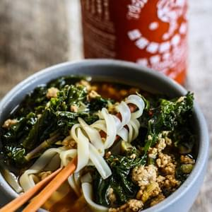 Spicy Pork and Kale Soup