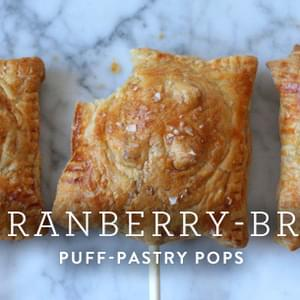 Cranberry-Brie Puff-Pastry Pops