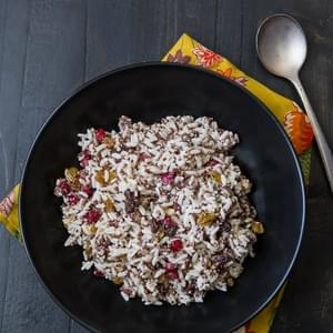 Coconut Rice with California Raisins, Pomegranate and Hazelnuts