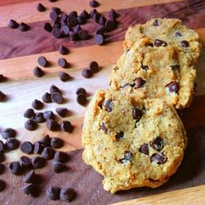 Coconut Flour Chocolate Chip Cookies - Gluten and Dairy Free