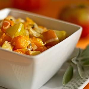 Roasted Butternut Squash and Apples with Manchego Cheese