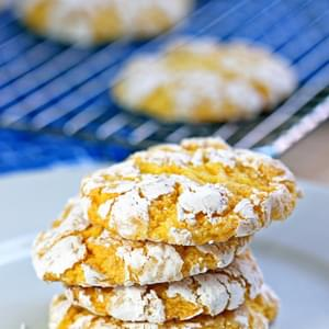 Chewy Lemon Burst Crinkle Cookies