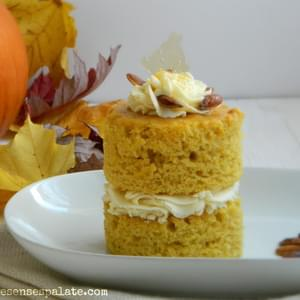Pumpkin Cake with Ginger-Mascarpone Frosting