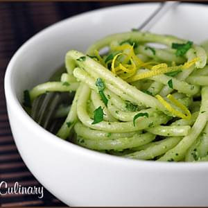 Pasta with Avocado Cream Sauce
