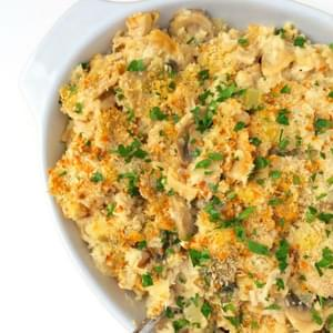 Chicken and Mushroom Casserole with Crispy Panko Topping