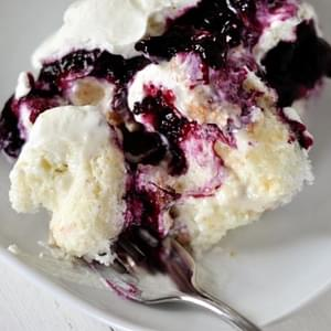 Heavenly Blueberry and Cream Angel Dessert