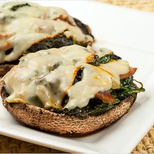 Sweet And Sour Spinach-Stuffed Portobellos