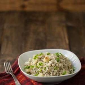 Gorgonzola Rice and Roasted Cauliflower