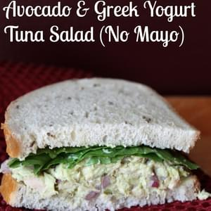 Avocado and Greek Yogurt Tuna Salad Recipe (No Mayonnaise)