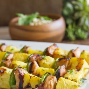Grilled Teriyaki Chicken and Pineapple Kebabs
