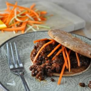 Slow Cooker Vegetarian Lentil Sloppy Joes ♥