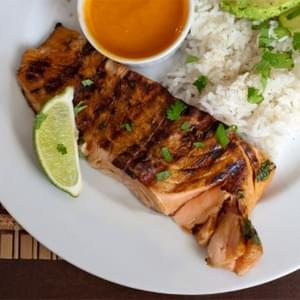 Honey Lime Salmon with Sweet & Spicy Sauce