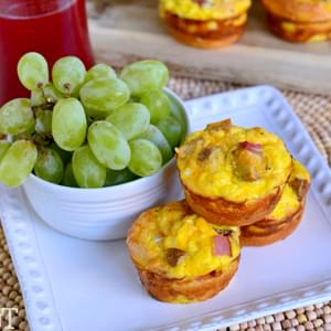 Potato, Ham and Cheese Crescent Quiches