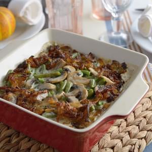 Green Bean Casserole with Madeira Mushrooms Recipe