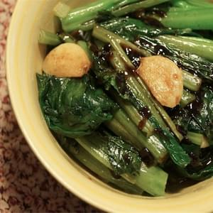 Chinese Broccoli with Garlic and Miso