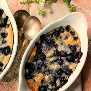 A Delicious Blueberry Cake for Two ( Can be Doubled or Tripled as well)
