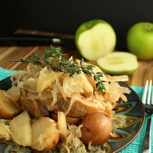 Slow Cooker Pork Chops with Sauerkraut, Apples, and Potatoes