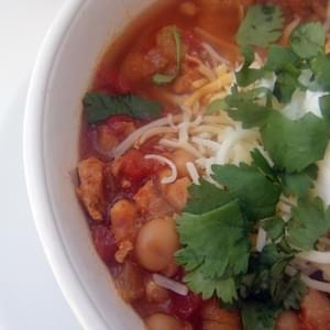 (Slow Cooker) Mexican Style Chicken Chili