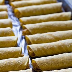 Baked Chipotle Ranch Chicken Taquitos (Flautas)