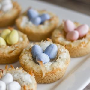 Sugar Cookie Easter Egg Nests