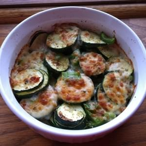 Simple Cheesy Zucchini Bake