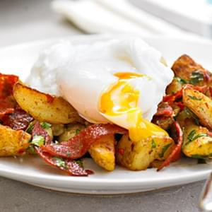 Chorizo Hash With Poached Egg