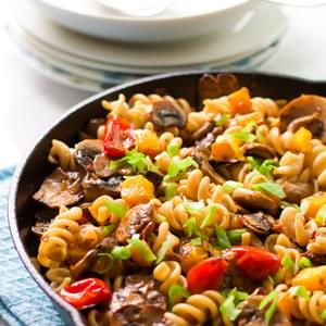 Fusilli with Mushroom and Roasted Butternut Squash