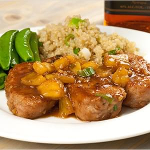 Pork Medallions with Chunky Pineapple-Rum Sauce