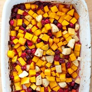 Butternut Squash, Cranberry and Apple Bake