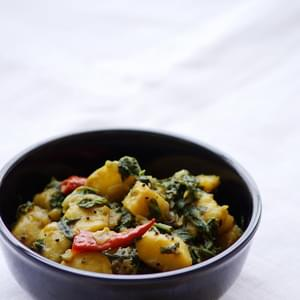 Saag Aloo Recipe - How to make Saag Aloo Recipe - North Indian Curry Recipes