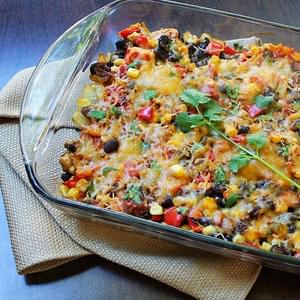 Autumn Harvest Black Bean Casserole