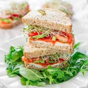 Smoked Salmon and Veggie Sandwiches