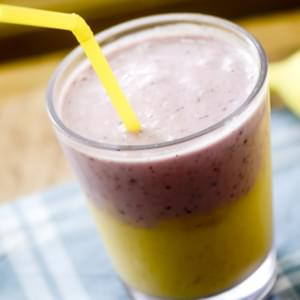 Mango and Berry Layered Smoothie