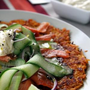 Sweet Potato Rosti With Smoked Salmon Salad